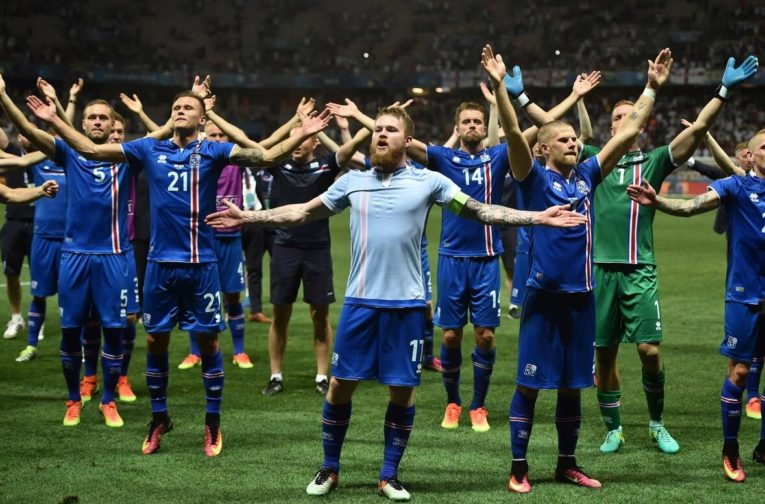The Icelandic men's soccer team reached the quarterfinals of the European Championships 2016.