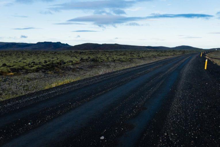 Road in Iceland (Hafnarfjörður)