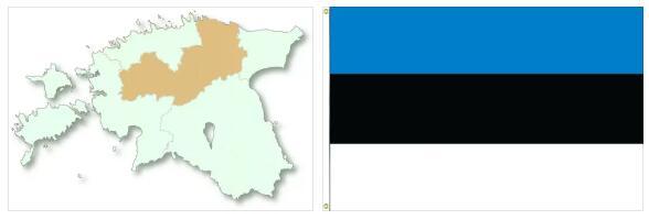 Estonia Flag and Map 2