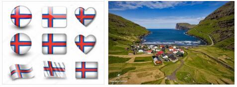 Faroe Islands Flag and Map