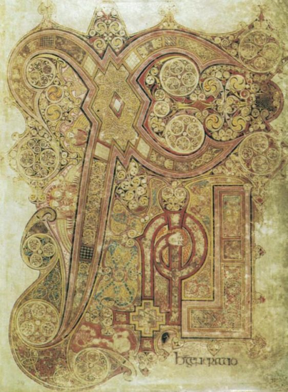 Initial from Book of Kells