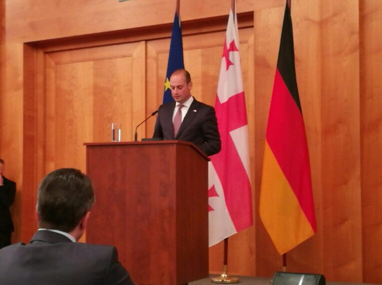 AM Michail Janelidze at the opening of the German-Georgian Year 2017 in Berlin