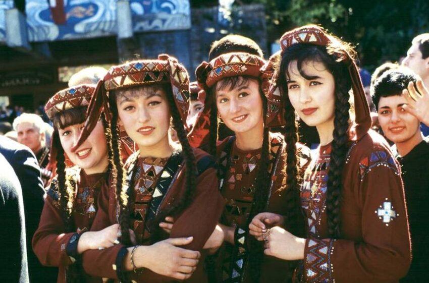 Georgia Young women in national dress
