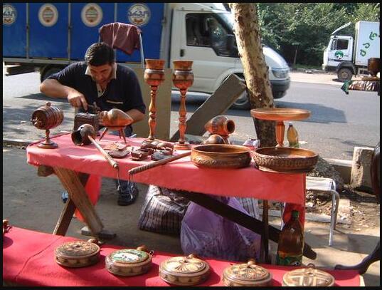 Souvenir market in Tbilisi Georgia